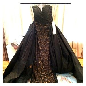 Tarik Ediz 50216 black gown